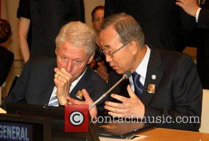 Bill Clinton and Ban Ki moon - The United Nations celebrate 'Nelson Mandela International Day' which coincides with his 95th...