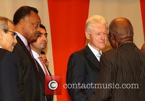 Jesse Jackson, Bill Clinton and Andrew Mlangeni