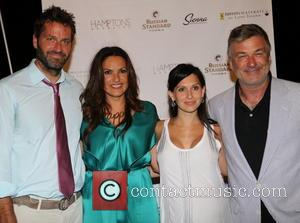 Peter Hermann, Mariska Hargitay, Hilaria Thomas Baldwin and Alec Baldwin