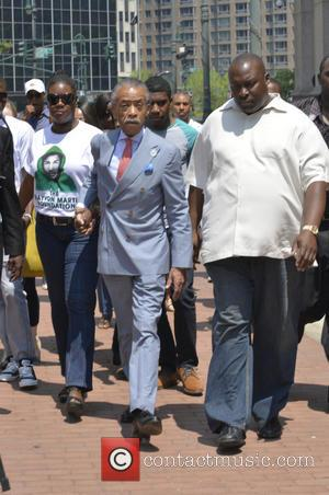 Sybrina Fulton and Rev. Al Sharpton - Justice for Trayvon Martin Rally held at One Police Plaza in New York...