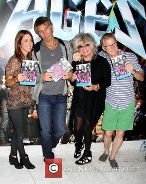 Martha Quinn, Mark Goodman, Nina Blackwood and Alan Hunter - Original MTV VJ's book signing at The Rock Of Ages...