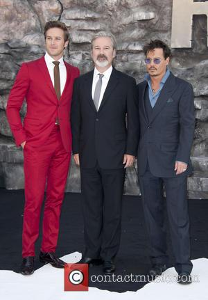 Armie Hammer, Gore Verbinski and Johnny Depp