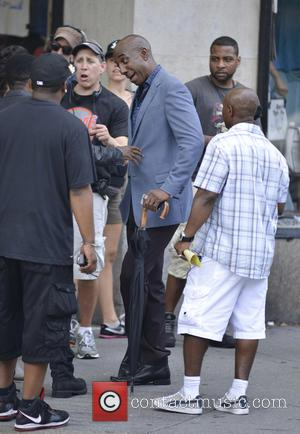 JB Smoove - Chris Rock bumps into fellow 'Saturday Night Live' alum Seth Meyers on the set of Rock's new...