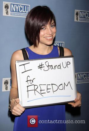 Krysta Rodriguez - NYCLU's Broadway Stands Up For Freedom concert held at NYU Skirball Center - Arrivals - New York...
