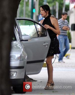 Andrea Corr - Irish singer Andrea Corr gets into a cab in Donnybrook, Dublin - Dublin, Ireland - Tuesday 23rd...