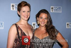 Grace McLean and Liana Stampur - NYCLU's Broadway Stands Up For Freedom concert held at NYU Skirball Center-Arrivals. - New...