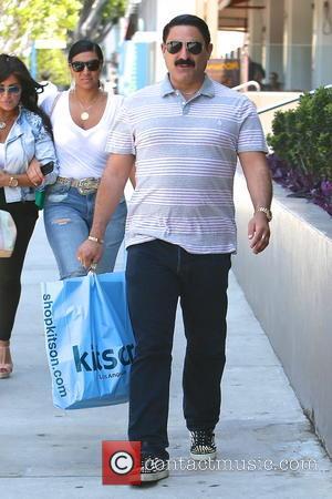 Reza Farahan, Mercedes Javid and Asa Soltan Rahmati - 'Shahs of Sunset' stars seen shopping and have lunch at the...