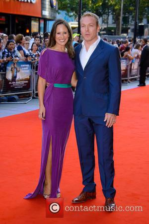 Sir Chris Hoy and Sarra Kemp - London premiere of 'Alan Partridge: Alpha Papa' held at the VUE West End...