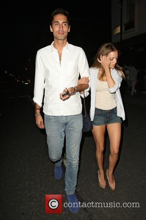 Hugo Taylor and Natalie Joel - Made in Chelsea cast members eating at E&O in Notting Hill - London, United...
