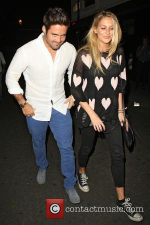 Spencer Matthews and Stephanie Pratt - Made in Chelsea cast members eating at E&O in Notting Hill - London, United...