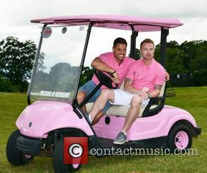 Keith Duffy and Ronan Keating - Ronan Keating's annual Maire Keating Foundation Golf Classic in the K-Club - Dublin, Ireland...