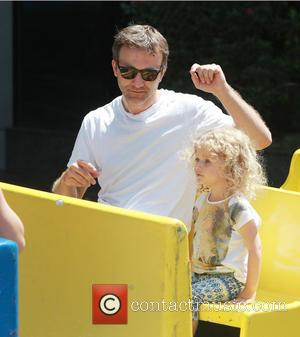 Breckin Meyer and Caitlin Willow Meyer