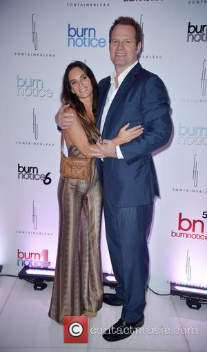 Gabrielle Anwar and Jack Coleman - 'Burn Notice' Wrap party at Fontainebleau Miami Beach - Arrivals - Miami Beach, Florida,...