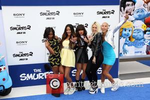 Lauren Bennett, Emmalyn Estrada, Paula Van Oppen, Simone Battle and and Natasha Slayton of the group G.R.L. - LA Premiere...