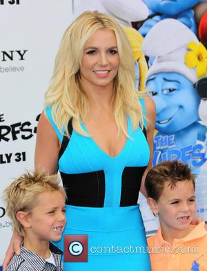Britney Spears - The Los Angeles premiere of 'Smurfs 2'...