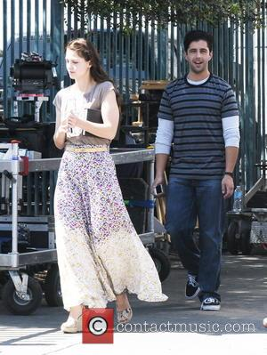 Melissa Benoist and Josh Peck - Melissa Benoist and Josh Peck on the movie set of