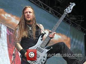 Ted Lundström and Amon Amarth - Amon Amarth performs during the Mayhem Festival 2013 at the FL State Fairgrounds -...