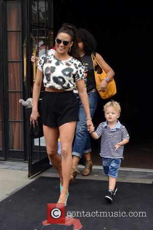 Paula Patton and Julian Fuego Thicke - Paula Patton, her son Julian Thicke and Robin Thicke spotted leaving their Manhattan...