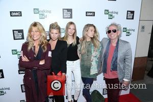 Keith Richards, Alexandra Richards, Ella Richards, Theodora Richards and Patti Hansen