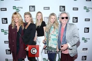 Patti Hansen, Alexandra Richards, Ella Richards, Theodora Richards and Keith Richards