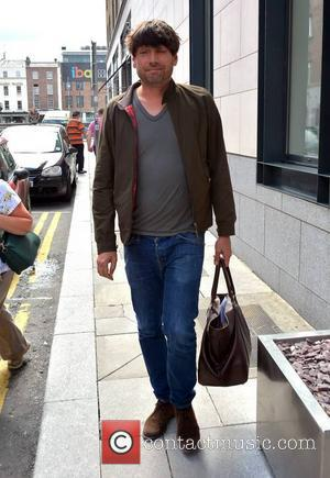 Alex James and Blur - Members of Blur spotted leaving their hotel ahead of their IMMA concert at Royal Hospital...