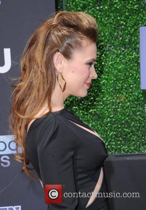 Alyssa Milano - 2013 Young Hollywood Awards at The Broad Stage - Red Carpet - Los Angeles, California, United States...