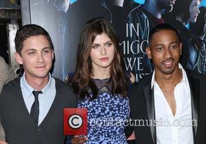 Logan Lerman, Alexandra Daddario and Brandon T. Jackson
