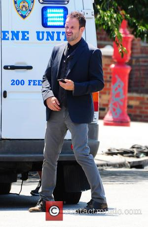 Jonny Lee Miller - Jonny Lee Miller on the set of 'Elementary' - NYC, NY, United States - Friday 2nd...