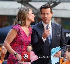 Savannah Guthrie and Carson Daly - Carson Daly appears as a guest co-host on the 'Today' show - New York...