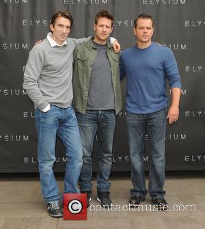 Sharlto Copley, Neill Blomkamp and Matt Damon