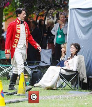 Jenna-Louise Coleman - The cast of the BBC One's drama 'Death Comes to Pemberley' filming in York - York, United...