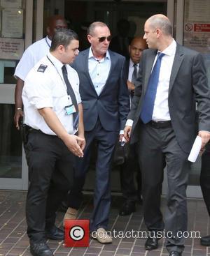 Paul Gascoigne - Paul Gascoigne leaving Stevenage Magistrates Court - Stevenage, United Kingdom - Monday 5th August 2013