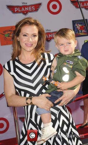 Alyssa Milano and Milo Bugliari