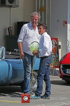 Jeremy Clarkson and Richard Hammond - EXCLUSIVE Top Gear presenters, Jeremy Clarkson and Richard Hammond filming the latest episode in...