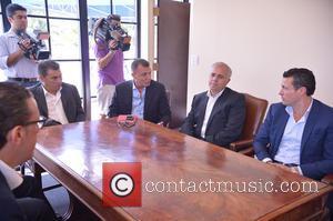 Valencia, Angel Zayon, Guest, Salvador Belda and Amadeo Salvo Lillo