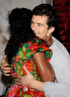 Condola Rashad and Orlando Bloom - The first photo op for the new Broadwav  production of William Shakespeare's Romeo...