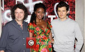 David Leveaux, Condola Rashad and Orlando Bloom - The first photo op for the new Broadwav  production of William...