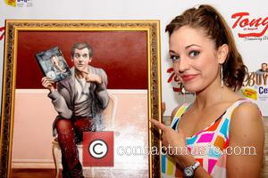 Laura Osnes - 'Buyer and Cellar' star Michael Urie celebrates his birthday with a portrait unveiling at Tony's Di Napoli...
