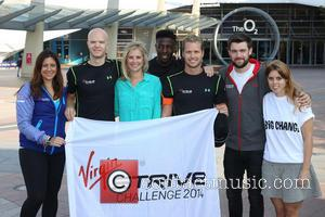 Holly Branson, Princess Beatrice of York, Sam Branson and Jack Whitehall - Virgin STRIVE Challenge - start photocall held at...