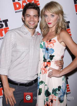 Jeremy Jordan and Ashley Spencer - Broadway opening night of 'First Date' held at the Longacre Theatre - Arrivals -...