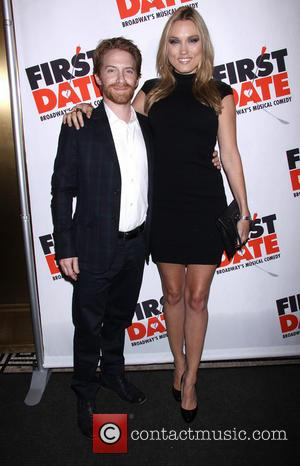Seth Green and Clare Grant - Broadway opening night of 'First Date' held at the Longacre Theatre - Arrivals -...