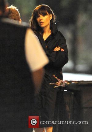 Zooey Deschanel - Zooey Deschanel films late night scenes for the third series of her hit TV show 'New Girl'...