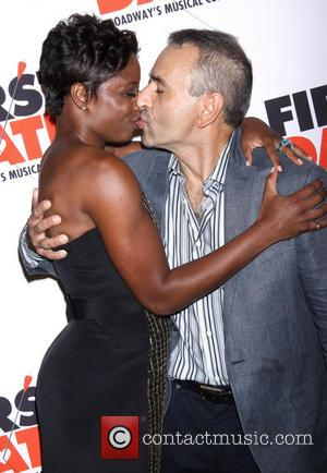 Montego Glover and Joe DiPietro - Broadway opening night of First Date held at the Longacre Theatre-Arrivals. - New York,...