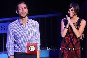 Zachary Levi and Krysta Rodriguez - Broadway opening night of First Date held at the Longacre Theatre-curtain call. - New...