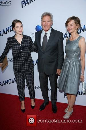 Calista Flockhart, Harrison Ford and Daughter