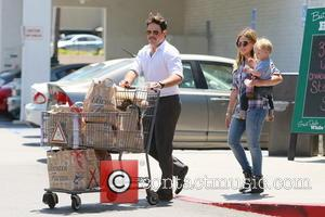 Hilary Duff, Mike Comrie and Luca Duff