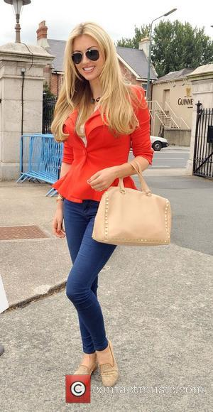 Rosanna Davison - Former Miss World and Playboy model Rosanna Davison at the RDS Showjumping Arena this afternoon,where she watched...