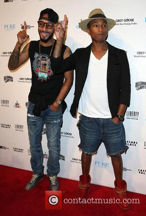 Swizz Beatz and Pharrell Williams - Liberty Fairs Presents 10th Aniversary of Pharrell Williams  Clothing Company Billionaire Boys Club...