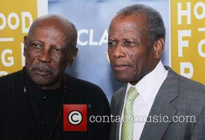 Lou Gossett Jr. and Sidney Poitier