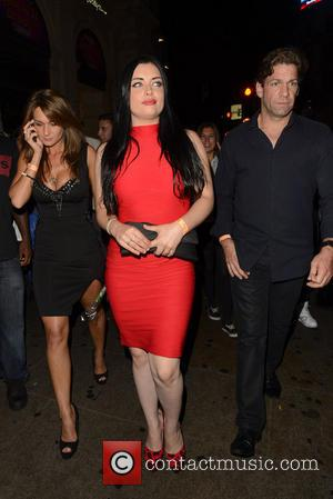 Shona McGarty - Ferne McCann and Shona McGarty leaving Cafe de Paris. Shona got mobbed and had to seek a...